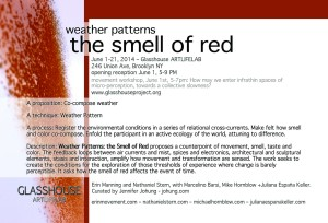 weather patterns: the smell of red